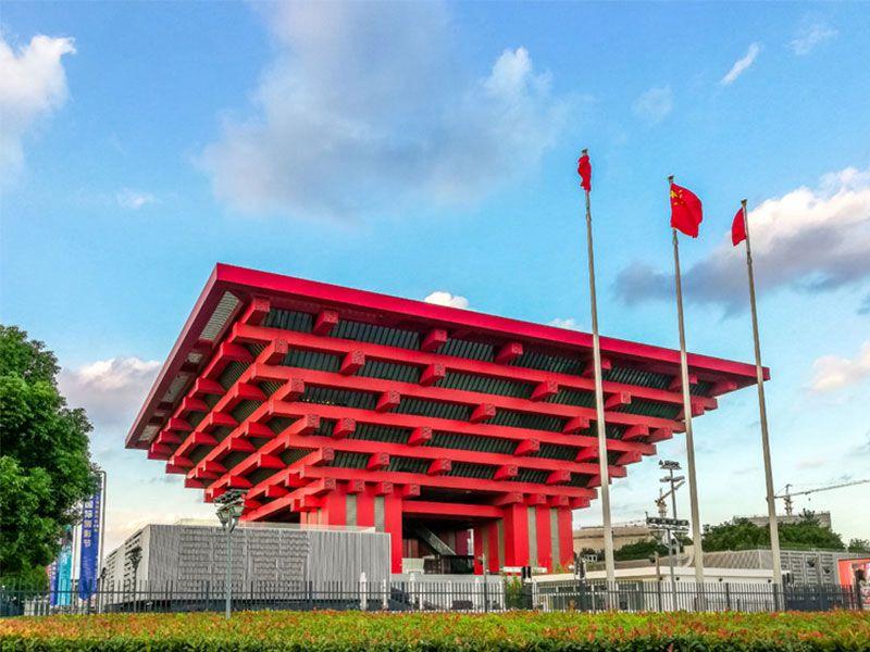 shang海世博会中国guan安装za物dian梯